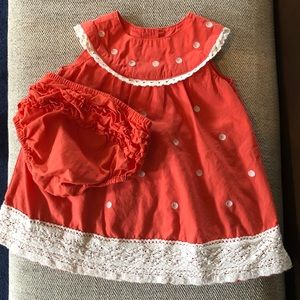 Boden baby dress with ruffled bloomers